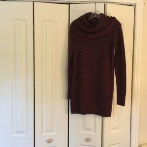 Gorgeous cowl neck sweater dress.